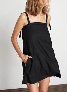 PLAIN BLACK - SAN BLAS DRESS
