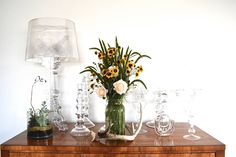 """Bouquet of the Week: A """"Back To School"""" Bouquet - Garden Collage Magazine Collage, Earthy, Flower Arrangements, Back To School, Glass Vase, Floral Design, Concept, Entertaining, Rustic"""