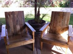 Patio Chairs from Pallet Wood