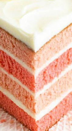 Pink Lemonade Cake ~ A cake that will dazzle and delight... The tall beauty is not only delicious, it's lovely to look at, too.