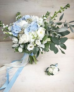While you can leave all your wedding flower choices in the hands of a capable professional flower shop and get terrific outcomes, you might wish to take a more hands on approach. Hydrangea Bouquet Wedding, Blue Wedding Flowers, Blue Bouquet, Floral Wedding, Wedding Bouquets, Wedding Flower Arrangements, Floral Arrangements, Anniversaire Hello Kitty, Flower Decorations
