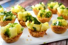 Ancient Grain Coconut Cups with Pineapple Salsa