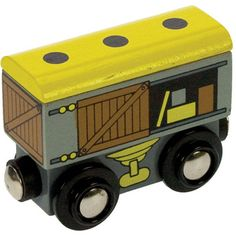 BigJigs Wooden Railway Goods Wagon BJT402