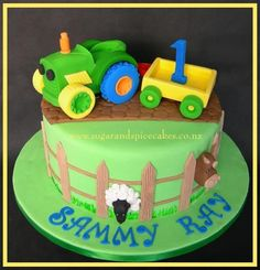 Toy Tractor by Mel_SugarandSpiceCakes