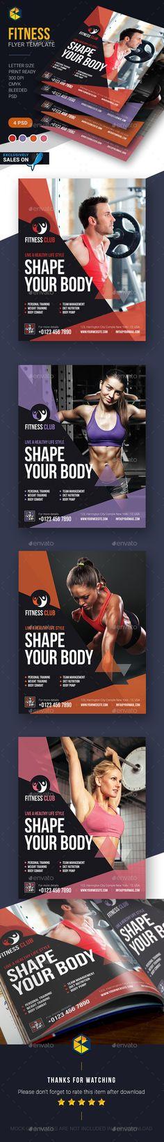 Fitness Flyer Template PSD #design Download: http://graphicriver.net/item/fitness-flyer-template/14327228?ref=ksioks