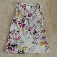 LOFT floral shirt size xs petite Trendy floral print shirt great for any season. Used but in good condition. LOFT Tops