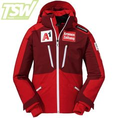 Schöffel Kids Austrian Team Lachaux K RT Jacket - High Risk Red Silicone Tape, Kids Skis, Ski Racing, Ski Wear, Thing 1, Ski Goggles, High Risk, Winter Sports, Motorcycle Jacket