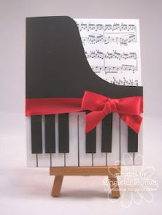 piano card using the a*muse sheet music background