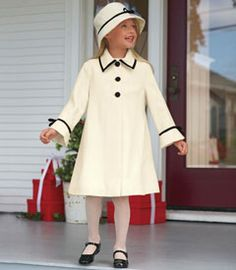 ivory and white coat/hat