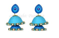 Classic Quilling Double Layer Jhumka Earrings