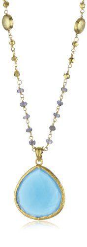 "Coralia Leets Jewelry Design ""Wire Wrap"" Light Blue Chalcedo $423"