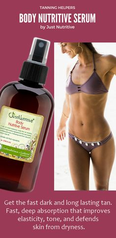 Use all over your body to nourish and promote a healthy, naturally obtained tan.