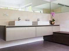 design › Home Double Vanity, Interior Design, Bathroom, Home, Material, Gallery, Image, Concept, Full Bath