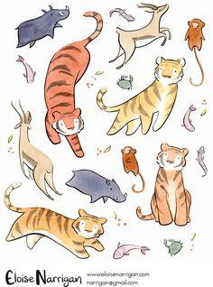 Illustrations by Eloise Narrigan — Eloise Narrigan Cute Animal Drawings, Animal Sketches, Cute Drawings, Art Sketches, Horse Drawings, Character Illustration, Illustration Art, Animal Illustrations, Arte Peculiar