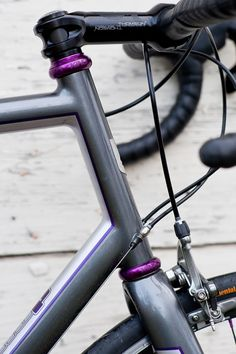 Chris King's limited edition purple components.