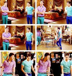I love the fact that Blaine's shirt matches Kurt's pants...