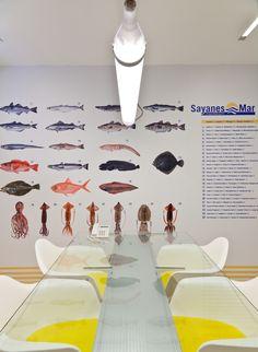 Meeting table, sea board  #vigo #design #yellow