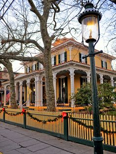 Our Victorian buildings look beautiful at the holidays. Christmas, winter Cape May Point, Ocean City, Jersey Cape, Cape May County, New Jersey