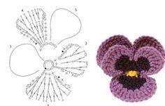 SANDRA PONTOS DE CROCHÊ E TRICÔ...........: Amor Perfeito de Croche