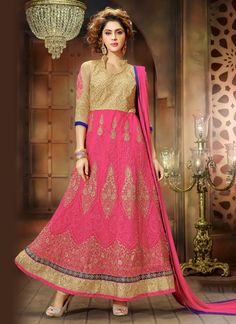 Ravishing Banglori Silk Embroidered Work Anarkali Salwar Kameez