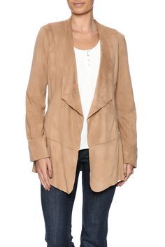 Classic faux suede jacket with a fold over collar, open front and wide cuffs.    XS Sizes 4-6    S/M Sizes 8-10    L/XL Sizes 12-14    XXL Sizes 16-18   Suedette Jacket by SImply Noelle. Clothing - Jackets, Coats & Blazers - Jackets - Suede Dallas, Texas