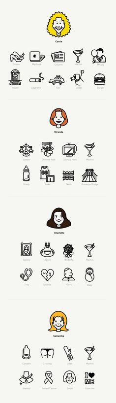 'SexAndTheCity' Icon Set on Behance