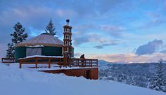 Idaho's backcountry yurts offer winter havens, happy trails