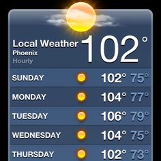 I love weather stuff, just not 100+ degree temps! It's beginning to feel alot like Summertime!!