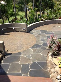 You can't go wrong with a honed concrete outdoor area. The team nailed this one!