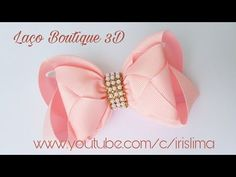Laço de Fita de Gorgurão Laço Boutique Com Mil Faces 3D DIY PAP TUTORIA - YouTube