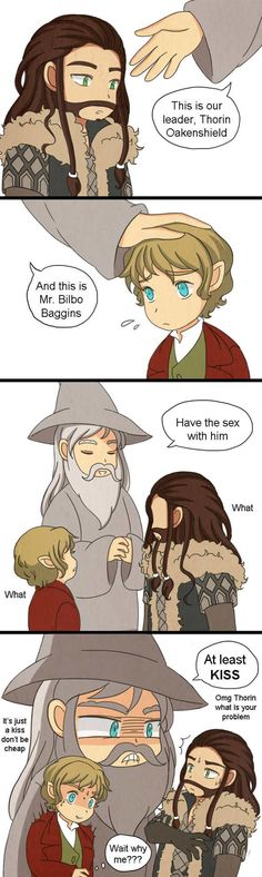 Oh Gandalf haha. Oh Gandalf is one of us!! Join us to Bilbo and Thorin~ Join us!! Its futile to resist~