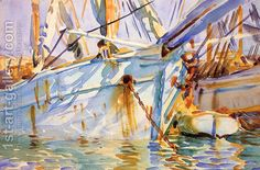 In a Levantine Port John Singer Sargent | Oil Painting Reproduction | 1st-Art-Gallery.com