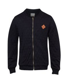Black W-Quilted Bomber Jacket by 24:01, quilted bomber jacket, made from good material, front zipper, long sleeves, front pocket, inner lining, regular fit. Keep warm and stay masculine in this black w-quilted bomber jacket.  http://www.zocko.com/z/JJBzb