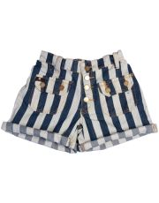 navy stripes. don't know if i can pull off the high wasted short, but totally cute.