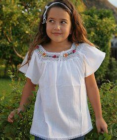 Look at this #zulilyfind! White Flower Lucita Top - Infant, Toddler & Girls #zulilyfinds