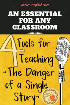 """""""The Danger of a Single Story"""" by Chimamanda Ngozi Adichie is a Ted talk I show in EVERY class. Its message is central to lessons about the power of language to change our lives for the better. Teaching Writing, Teaching English, Teaching Resources, Writing Lab, Chimamanda Ngozi Adichie, Middle School Teachers, School Fun, English Lessons, English Class"""