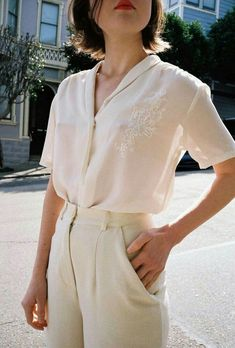 a4718a21c87 Summer 2018 street style  Embroidered  Vintage  Blouse