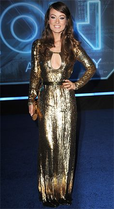 Olivia Wilde's Most Stunning Red Carpet Moments: Golden Girl in Emilio Pucci