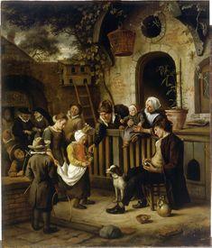 Jan Steen (1626 - 1679) - The Little Alms Collector, c. 1664