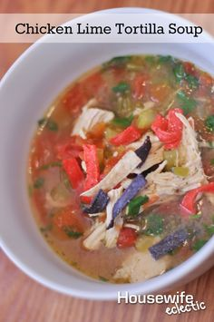 Housewife Eclectic: Chicken Lime Tortilla Soup