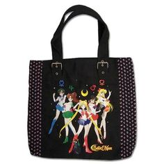 New official black Sailor Moon group tote bag!  Information on where to buy it here: http://www.moonkitty.net/reviews-buy-sailor-moon-bags-backpacks.php