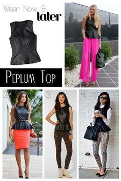 ed6ed7971aa 30 Best Leather peplum images