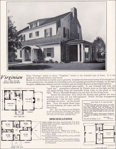 1922 Virginian by Bennett Homes - Dutch Colonial Revival Style - Vintage Residential Architecture - Kit Houses