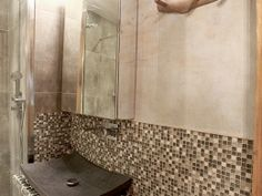 Stormy Skies Bathroom in Latin Quarter Apartment, Paris by OUTinDesign