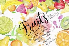 Fruit Watercolor Collection  by Tanya Kart on @creativemarket