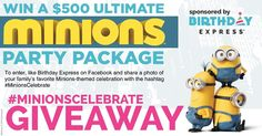 #MinionsCelebrate Giveaway at Birthday Express | Get FREE Samples by Mail | Free Stuff