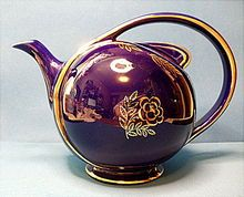 Looks purity purple to me, though - Hall Airflow Teapot Cobalt Blue With Standard Gold Trim Teapot, 6 Cup.