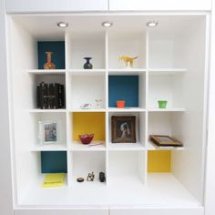 Display Unit with box Design by Empatika (SMALL) Bookshelves In Living Room, Modern Bookshelf, Ikea Living Room, Custom Furniture, Furniture Design, Interior Decorating, Interior Design, Paint Colors For Living Room, Easy Diy Projects