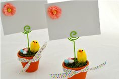 If you love chicks, you're in the right place! These Place Cards for Easter are worth the extra work, because they're just that adorable. Extra Work, Place Cards, Place Card Holders, Easter, Places, Crafts, Decor, Decoration, Decorating