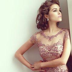 Former Miss Universe @oliviaculpo wearing Sherri Hill